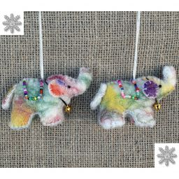 Felt - Christmas Decoration - Elephant - Tie dye