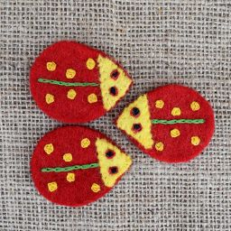 Pure wool - ladybird - red/yellow