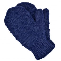 Children's fleece lined - ridge mittens - dark blue