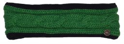 Fleece lined headband - cable - Bright green