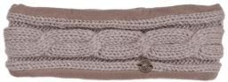 Fleece lined headband - cable - Haze