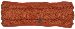 Fleece lined headband - cable - Apricot