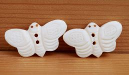 Hand carved - butterfly - button