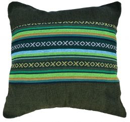 Cushion cover - cotton Gheri Panel - Cover Olive Green