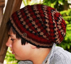 Pure wool - geometric slouch - Red/Rust