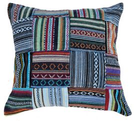 Cushion - stonewash cotton - Gheri Patchwork