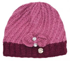 Pure wool - Bow Sparkle Beanie - Sorbet