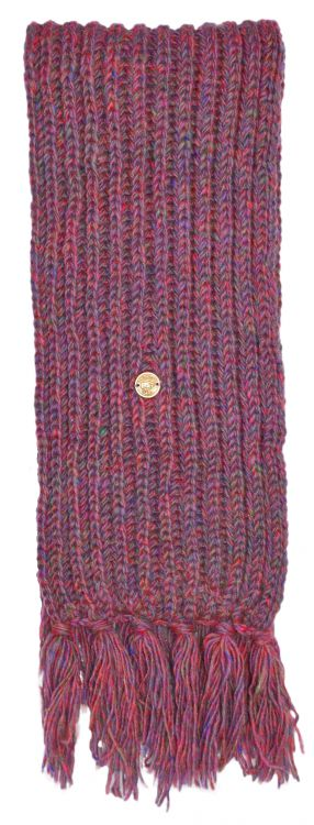 Pure wool - hand knit - heather mix scarf - pinks