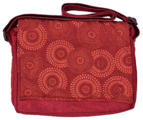 Large sized - circles print bag - red