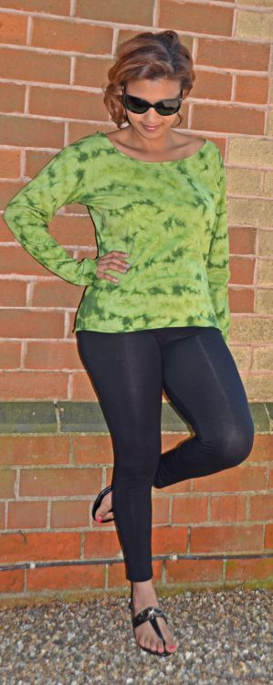 Tie Dye - Anytime - long sleeve top - Green
