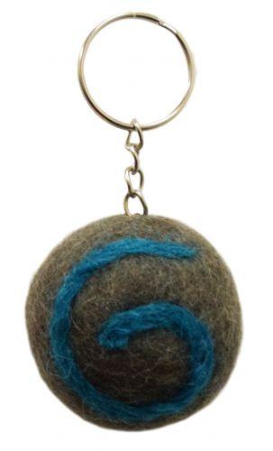 Swirl Keyrings - Grey/Blue