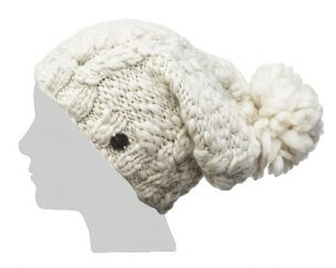 Pure wool - soft wool sparkle slouch - Cream