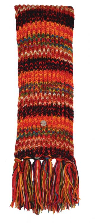 Long length - pure wool - scarf - multi electric