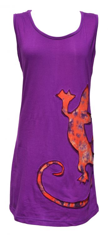 Light weight cotton - gecko tunic - purple