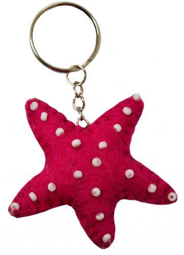 Felt - Keyring - Starfish - Pink