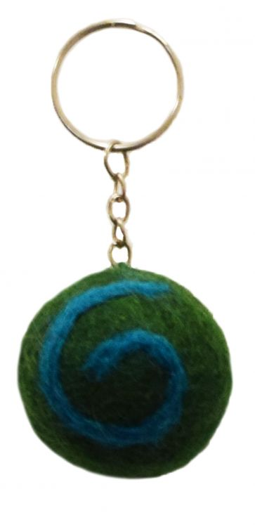 Swirl Keyrings - Green/Blue