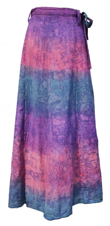 Wrapover - batik skirt - purple/pink bubble