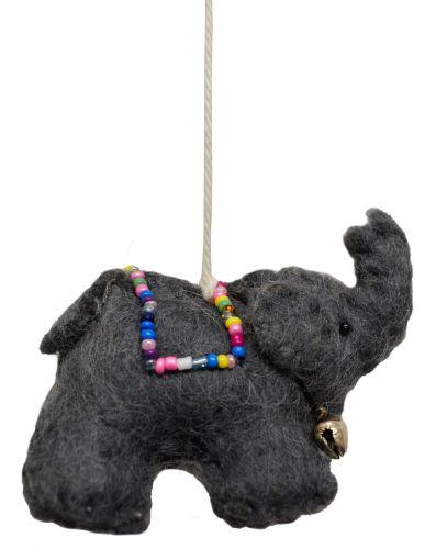 Felt - Christmas Decoration - Elephant - Grey