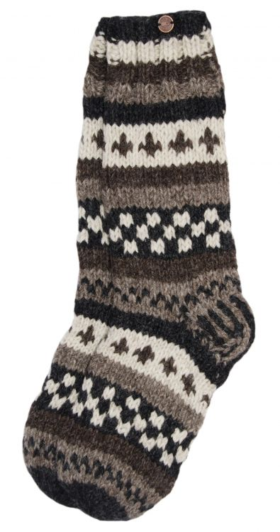 hand knit socks - Natural Assorted