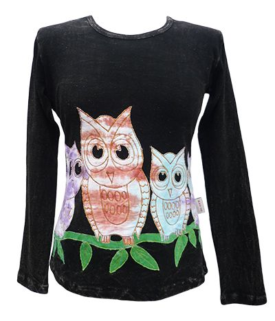 *** SALE *** - Owl Family - Stonewashed - Dark Blue