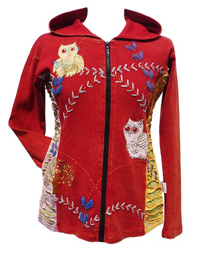 ***SALE*** - Owl Jacket - Red