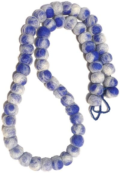 Tie Dye Necklace - Blue/white