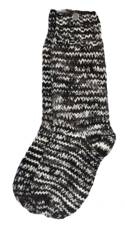 Pure wool - hand knit socks - Natural Electric
