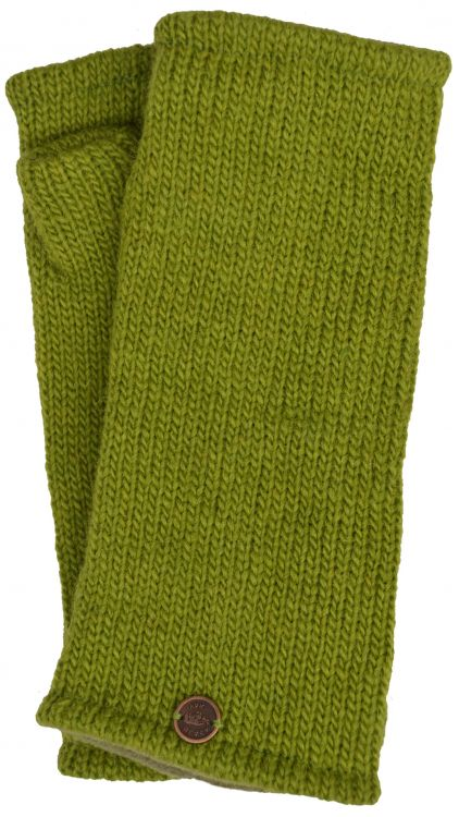 Fleece lined wristwarmer - Plain - Green