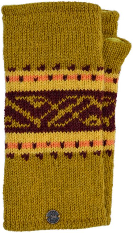 'V' band - pure wool wristwarmer - mustard