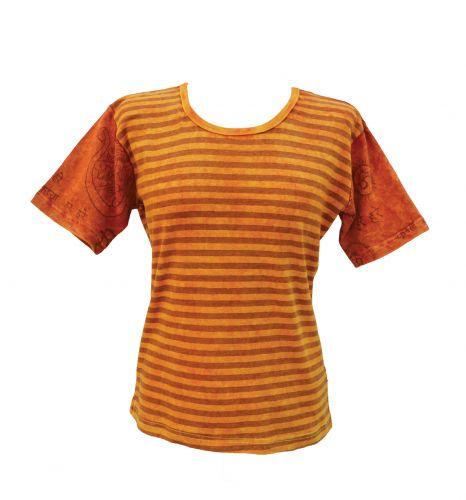 ***SALE*** - Mantra Sleeve T-Shirt - yellow/orange: S/M