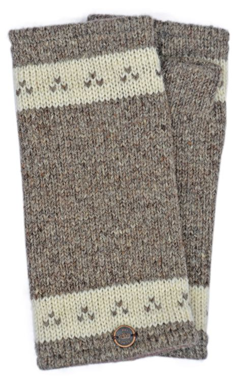 Classic -  triple tick - wristwarmer - soft brown