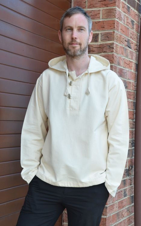 Hooded overshirt - Toggle fastening - Natural white