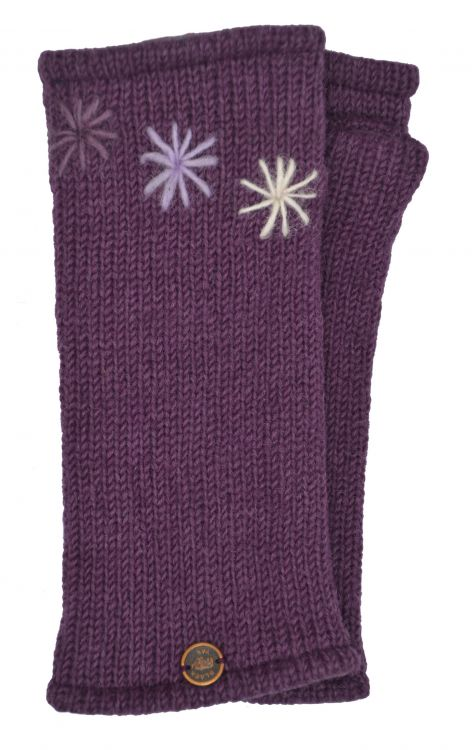Fleece lined wristwarmer - Three Star - Grape