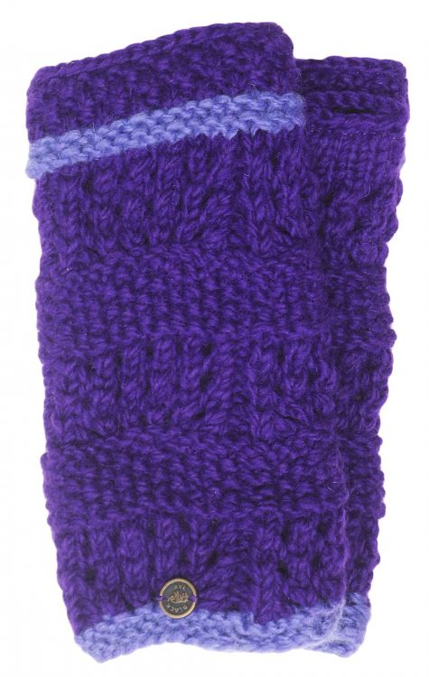 Fleece lined wristwarmer - unique - Purple