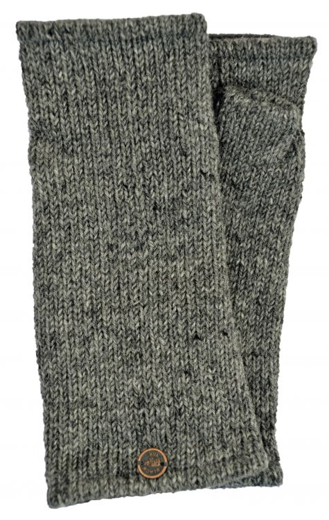 Fleece lined wristwarmer - Plain - Mid Grey