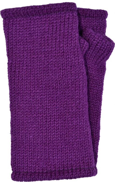 Children's Fleece Lined plain Wristwarmers - Magenta
