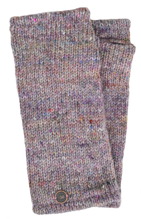 Fleece lined - Wristwarmers - heather mix -  pale