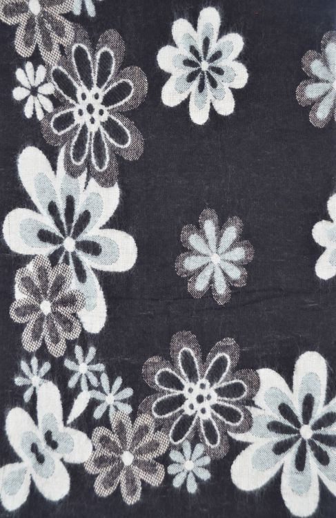 Floral - Blanket/shawl - Black