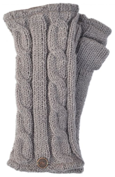 Fleece lined wristwarmer - cable - haze