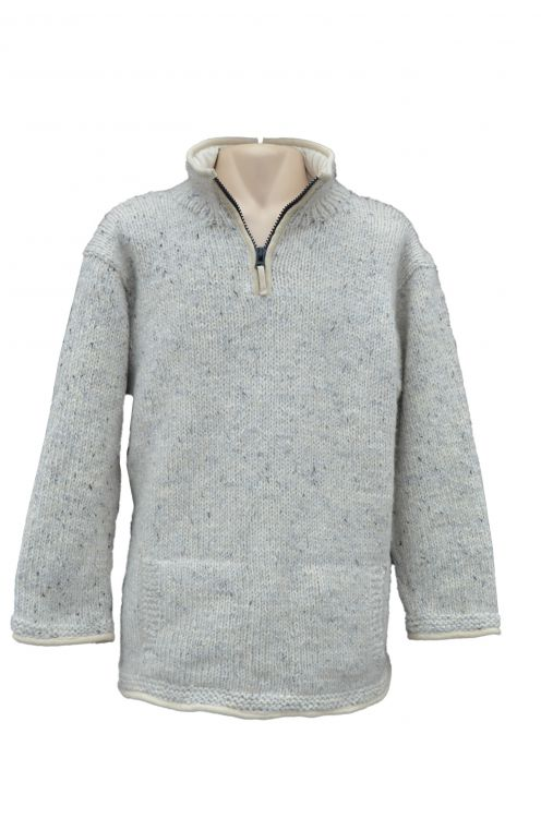 pull on - fine wool mix  - Pale Grey
