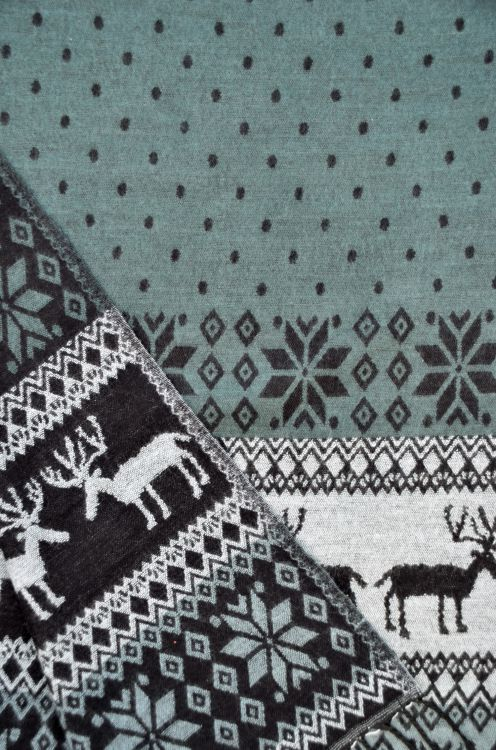 Reindeer - Blanket/shawl - Greys