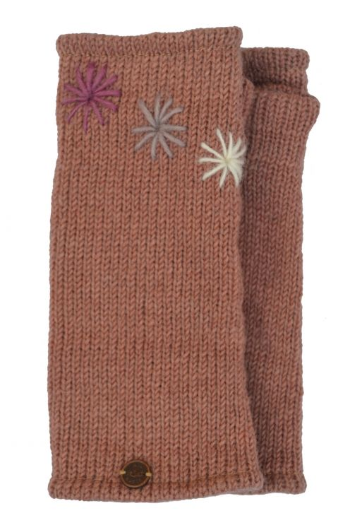 Fleece lined wristwarmer - Three Star - Blush