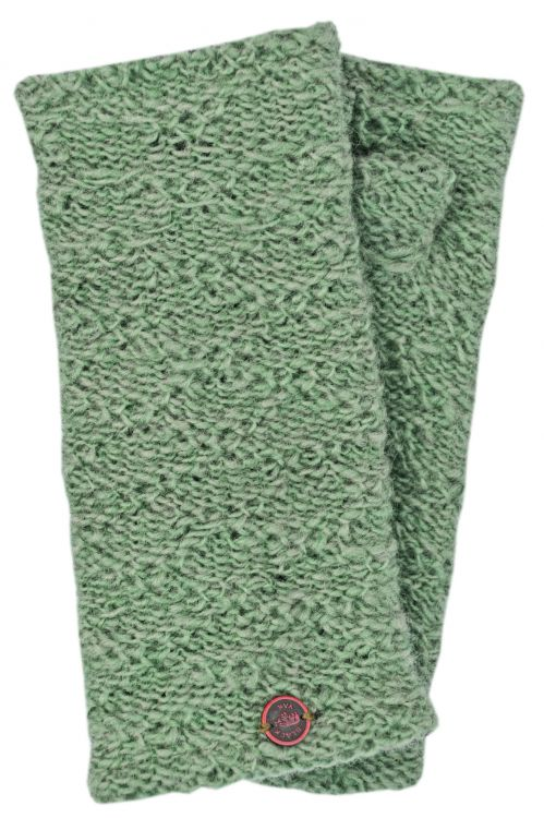 Fleece lined - textured - wristwarmers - trellis
