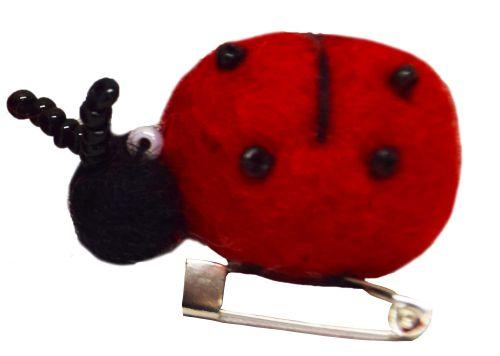 Felt - Brooch - Ladybird