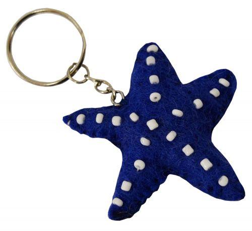 Felt - Keyring - Starfish - Blue