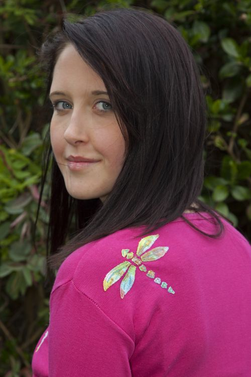 Dragonfly top - Pink
