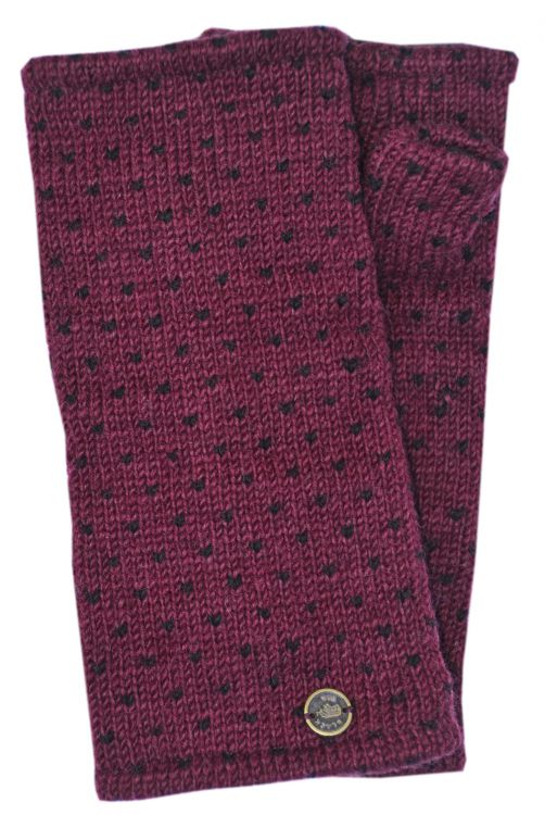 Fleece lined wristwarmer - tick - Blackcurrant