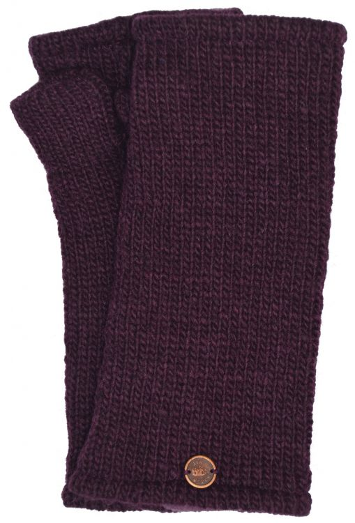 Fleece lined wristwarmer - Plain - Aubergine