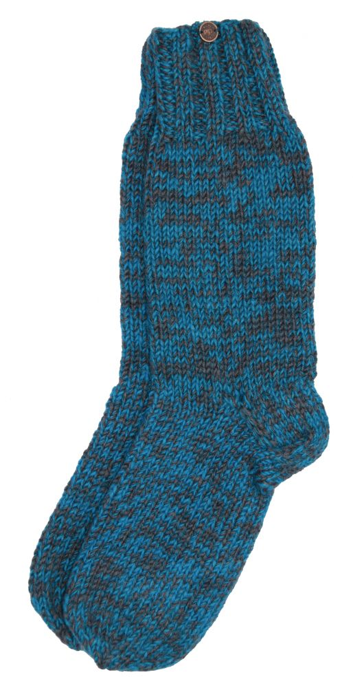 Pure wool - hand knit - socks - ocean grey  f0ee975788d7