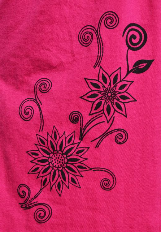 Cut out detail - sleeveless tunic - pinks